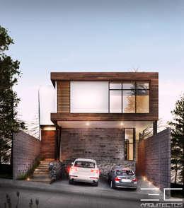 Residencia CS [León, Gto.]: Casas de estilo moderno por 3C Arquitectos S.A. de C.V.