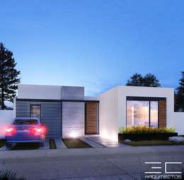 Residencia PC [León, Gto.]: Casas de estilo moderno por 3C Arquitectos S.A. de C.V.