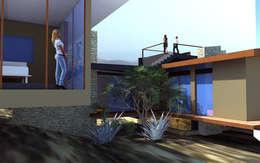 Proyecto Casa MV: Casas de estilo moderno por Qarquitectura