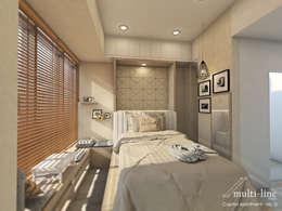 Studio Room - Capitol Apartment:  Kamar Tidur by Multiline Design