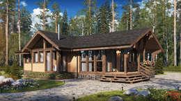 Projekty,  Dom rustykalny zaprojektowane przez Naturi