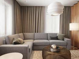 غرفة المعيشة تنفيذ EVGENY BELYAEV DESIGN