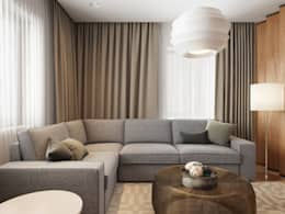Salas de estilo moderno por EVGENY BELYAEV DESIGN