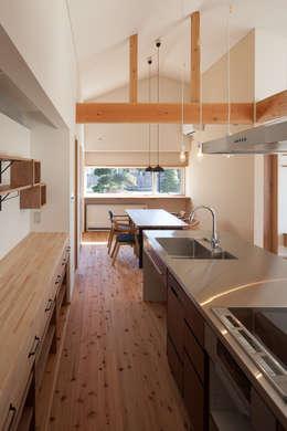 笑顔を奏でる家: 株式会社 井川建築設計事務所が手掛けたキッチンです。