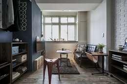 窗台設計:  客廳 by 第宅空間設計