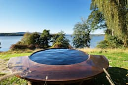 Hudson Valley Spa: modern Pool by andretchelistcheffarchitects
