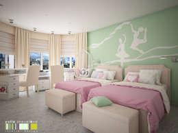 غرفة الاطفال تنفيذ Мастерская интерьера Юлии Шевелевой