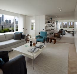 Upper East Side Apartment: modern Media room by andretchelistcheffarchitects