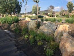Rocas glorieta acceso: Jardines de piedra de estilo  por Hábitas
