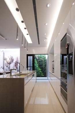 中區 複層住宅:  廚房 by 馬汀空間設計