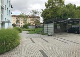 برجولا للسيارة تنفيذ Clemens Fauth Landschaftsarchitekten