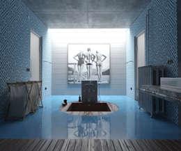 Parede e piso  por Jacopo Montanari 'Atelier Intarsia'