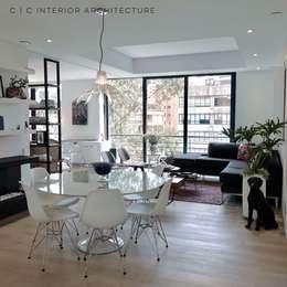 APARTAMENTO ROSALES | Residencial: Comedores de estilo moderno por C | C INTERIOR ARCHITECTURE