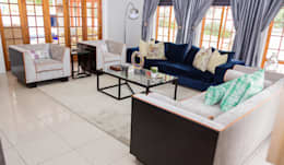 Contemporary meets African accents : modern Living room by Indoni Interiors