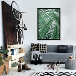 Green Fern: rustic Living room by Pixers