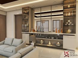 LIVING ROOM - VIEW 1: modern Living room by MAD DESIGN