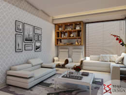 LIVING ROOM - VIEW 2: modern Living room by MAD DESIGN