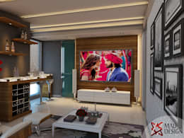 LIVING ROOM - VIEW 3: modern Living room by MAD DESIGN
