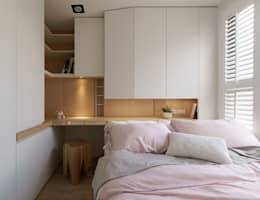 台南_住宅空間_德和大邁:  臥室 by 驀翊室內裝修設計有限公司