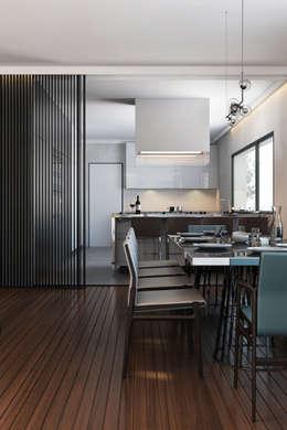 غرفة السفرة تنفيذ DZINE & CO, Arquitectura e Design de Interiores