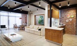Salas de estilo moderno por ODVO Arquitetura e Urbanismo