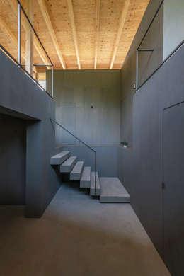 エントランスホール: KEITARO MUTO ARCHITECTSが手掛けた廊下 & 玄関です。