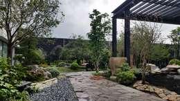 台中庭園私宅:  庭院 by 水湘景觀設計