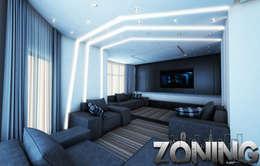 Phòng khách by Zoning Architects