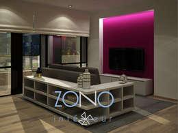 Diseño de salas: Salas de estilo moderno por Zono Interieur