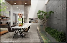 Phòng bếp:  Phòng ăn by Công ty cổ phần đầu tư xây dựng Không Gian Đẹp
