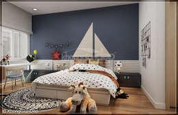 Phòng ngủ bé trai:  Phòng ngủ by Công ty cổ phần đầu tư xây dựng Không Gian Đẹp