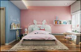 Phòng ngủ bé gái:  Phòng ngủ by Công ty cổ phần đầu tư xây dựng Không Gian Đẹp