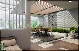 Sân thượng:  Hiên, sân thượng by Công ty cổ phần đầu tư xây dựng Không Gian Đẹp