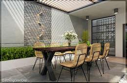 Terrazas de estilo  por Công ty cổ phần đầu tư xây dựng Không Gian Đẹp