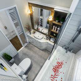 WC:  Phòng tắm by Công ty cổ phần đầu tư xây dựng Không Gian Đẹp