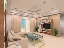 Interiors: modern Living room by Avasa interiors