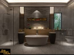 : modern Bathroom by The Design Code