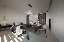 最簡單的黑白,卻藏著最精彩的語彙:  臥室 by 奇承威設計事業