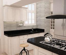 Encimera moderna : Muebles de cocinas de estilo  por Spacio5
