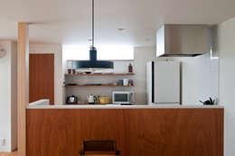 西ヶ崎町の家: 横山浩之建築設計事務所が手掛けたキッチン収納です。