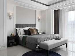 清新新古典:  臥室 by 成綺空間設計
