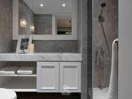 清新新古典:  浴室 by 成綺空間設計