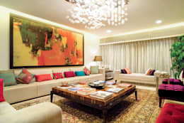 A spacious Living Room : asian Living room by Bric Design Group