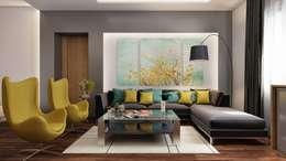 غرفة المعيشة تنفيذ RDW Architects
