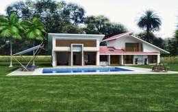 庭院 by Arquitectos y Entorno S.A.S