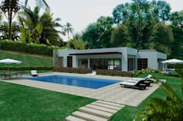 Casas Campestres: Piscinas de estilo moderno por Arquitectos y Entorno S.A.S