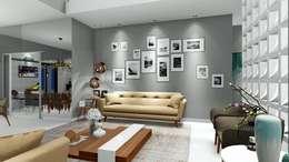 Salones de estilo moderno de Trivisio 3D