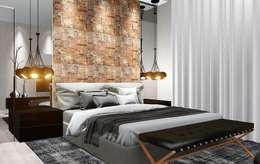 Dormitorios de estilo moderno por Trivisio Consultoria e Projetos em 3D