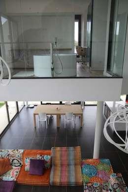 RUSTICASA | Villa Carré | Bussy-Saint-Georges: Casas de banho modernas por Rusticasa