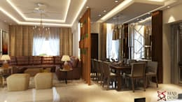 LIVING AND DINING VIEW 2 : modern Dining room by MAD DESIGN